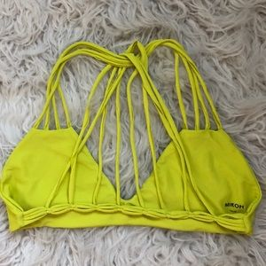Mikoh lime green strapy Bikini top bathing suit